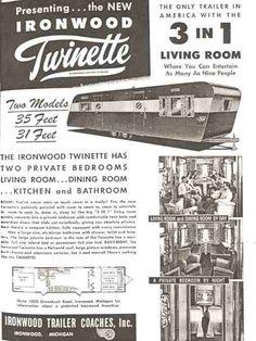 1950 Ironwood 8x35 Vintage RvVintage CampersMini HomesTrailer TrashCamper TrailersMobile