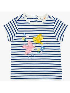 48edcdb6 Buy John Lewis & Partners Baby Stripe Bird Jersey T-Shirt, Multi from our  Baby & Toddler Tops range at John Lewis & Partners.