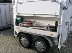 External horse trailer locker.