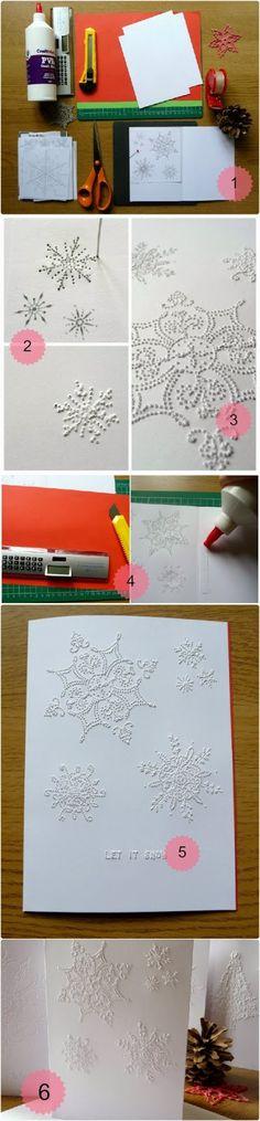 Homemade Christmas Cards - pinhole greatness. #DIY
