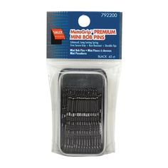 Premium Mini Bob Pins by MetaGrip. $2.99. Rust resistant. Enhanced, long-lasting spring. Patented, Japanese technology goes into making the best pin for the professional hair stylist. Firm, secure grip. Durable tips. Meta Grip Premium Mini Bob Pins are slip-proof and durable.