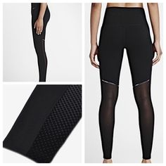 Black  amp  Mesh Nike Leggings NWT! These are SO cute! Full length leggings 4510dc4383d9