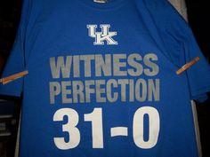 UK-univ.of ky wildcats basketball 4XL T-shirt 31wins & 0 loses 2014-2015season #glidan #KentuckyWildcats