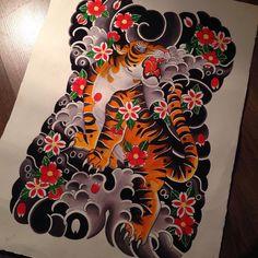 #tiger #tigertattoo #birmingham #birminghamtattoo #watercolour #japanesetattoo @modernbodyart