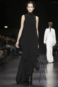 """Ann Demeulemeester, one of fashion's poetesses may have bowed out from her eponymous house but at """"Ann Demeulemeester"""", it was almost business as usual for its fall collection in Paris. Demeulemees..."""