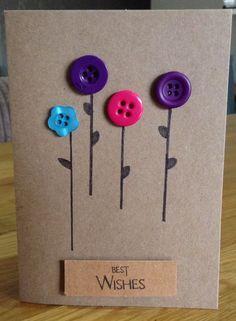 Handmade Button Cards by HareandBear on Etsy https://www.etsy.com/listing/218178431/handmade-button-cards