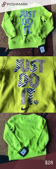 Nike boys girls sz 4 sweatshirt NWT New with tag. 60% cotton 40% polyester. Please check my other listings. Thank you for looking and have a great day! Nike Shirts & Tops Sweatshirts & Hoodies