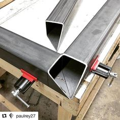 #Repost @paulrey27 with @repostapp ・・・ This is how the corners work with the double miter. Glue two together, and the last piece fits right in. #projectsouthdesign