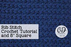 Rib Stitch Square ~ Oombawka Design