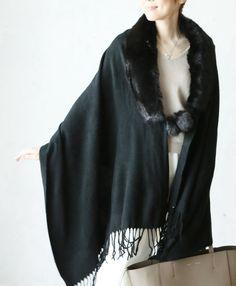 【楽天市場】【再入荷♪9月7日12時&22時より】(ブラック)「french」贅沢フェイクファーのストール:cawaii