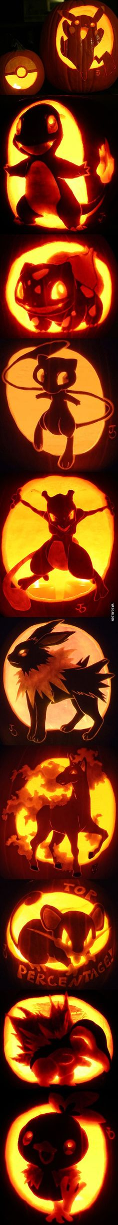 Pokemon Jack-O'-Lantern Pumpkin Art