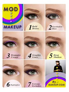 ** Eye makeup.... how to: mod makeup / step-by-step tutorial #makeup