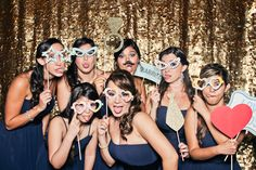 Gold Sequin Photo Booth Backdrop  wedding at Mar-A-Lago Club in West Palm Beach, Florida - sideshowbooth.com