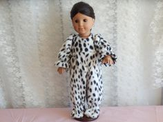 Footies of Fleece PJ's in Leopard Made to fit by something2do
