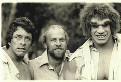Bill Bixby, Random Dude, and Lou Ferrigno in The Hulk (television series)