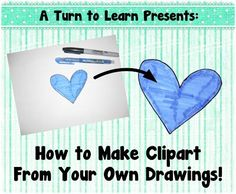 How to Make Clipart From Your Own Drawings!