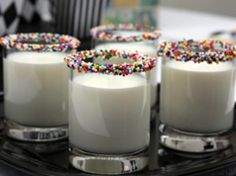 Milk with sprinkles...what a great way to start a special day!