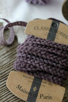 Braided purple ribbon