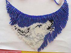 Seed Bead Earrings, Beaded Earrings, Beaded Jewelry, Beading Patterns Free, Seed Bead Patterns, Wolf Necklace, Necklace Tutorial, Handmade Beads, Loom Beading