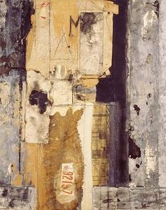 """justanothermasterpiece: """" Mildred Hermann, Third Avenue (Collage No.3), 1975, mixed media collage on canvas, 51 x 41 inches. """""""
