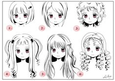 Various Girls Hairstyles Drawing Refs Pinterest