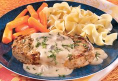 *Creamy Mustard Pork Chops* This quick-fix, one-skillet dish fits right into your busy schedule. Its so easy to make and the results are absolutely delicious.