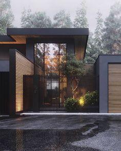 Architecture House Design The Best Dream House Exterior Ideas - House Topics Modern Exterior, Exterior Design, Black Exterior, Zen Design Interior, Interior Design Inspiration, Room Inspiration, Dream House Exterior, Facade House, House Goals