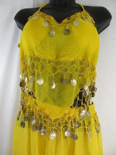 Belly dance costume top and pant set with decorative coins $8 - http://www.wholesalesarong.com/blog/belly-dance-costume-top-and-pant-set-with-decorative-coins-8/
