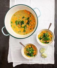 Curried Sweet Potato Soup - winter yum.