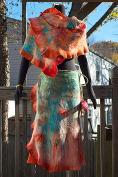 felted skirt and wrap