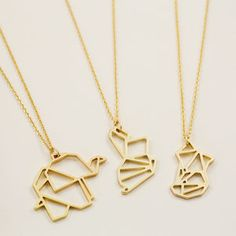 Gold Animal Pendant Necklace - necklaces & pendants