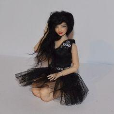 Black dress for 1/12 bjd doll by Zjakazumi | eBay