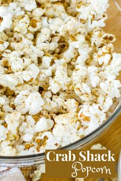 Best Popcorn Seasoning made with crab shack flavors is a perfect homemade popcorn recipe Crab Shack, Popcorn