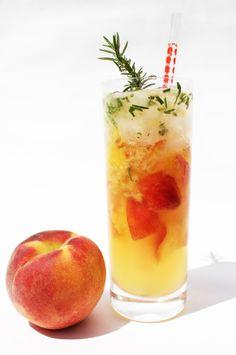 Peach & Rosemary Mojito