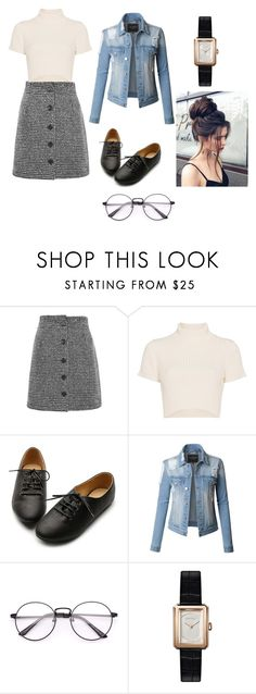 """""""pokdps"""" by alessiabazzurro on Polyvore featuring Topshop, Staud, Ollio, LE3NO and Chanel"""