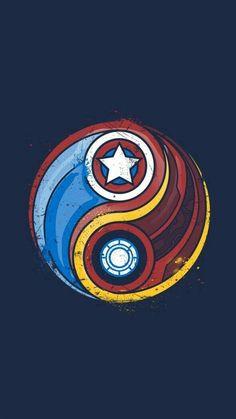 In-the Marvel: Iron Man vs. Captain America In-the Marvel: Iron Man vs. Marvel Avengers, Ultron Marvel, Thanos Marvel, Comics Spiderman, Iron Man Avengers, Marvel Art, Marvel Logo, Dc Comics, Marvel Civil War