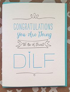Funny pregnancy announcement. New Dad Card You're by DeLuceDesign