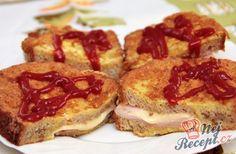 Pokud máte doma starší chlebíček, určitě ho nevyhazujte. Je to skvělá volba na chutnou snídani, pokud si připravíte tento recept. Starší chlebíček nakrájíme na plátky a každý plátek ještě překrojíme tak, abychom ho neprekrojili úplně. Dovnitř naskládáme šunku, sýr a obalíme ve vajíčku a upečeme. Mňamka :) Autor: Blažena French Toast, Breakfast, Morning Coffee