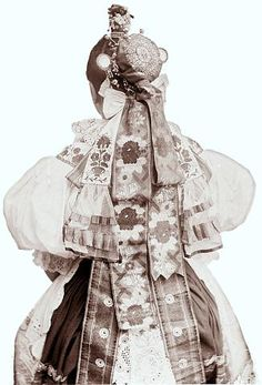 Ignác Šechtl: Cossack garb from Tabor Fashion History, Timeless Fashion, Bohemian, Bride, Clothes, Image, Collection, Dresses, Czech Republic