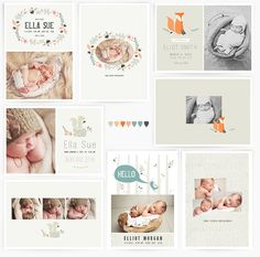 Oh Snap Boutique :: birth announcements :: Woodland Baby 5x7 WHCC Cards