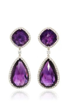 Amethyst And Diamond Earrings by SABBADINI for Preorder on Moda Operandi