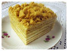 hunajakakku - medovnik - kokeile täytteeksi smetana+kermavaahto+sokeri