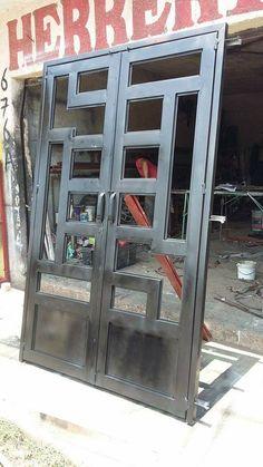 New Iron Door Design Ideas Metals Ideas Steel Gate Design, Front Gate Design, House Gate Design, Door Gate Design, Window Grill Design Modern, Balcony Grill Design, Grill Door Design, Wrought Iron Doors, Metal Gates