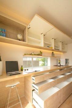 Japanese Kitchen, Japanese House, Kitchen Interior, Kitchen Design, Future House, Japan Interior, Diy Kitchen Storage, Kitchen Sets, Home Kitchens