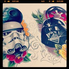 Perhaps the Star Wars hip tattoos I've been looking for??