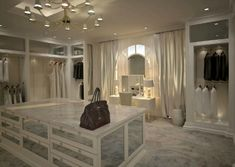The best of luxury closet design in a selection curated by Boca do Lobo to inspire interior designers looking to finish their projects. Discover unique walk-in closet setups by the best furniture makers out there. Dream Closets, Dream Rooms, Dream Bedroom, Closet Vanity, Closet Mirror, Modern Closet, Master Bedroom Closet, Master Suite, Luxury Master Bedroom