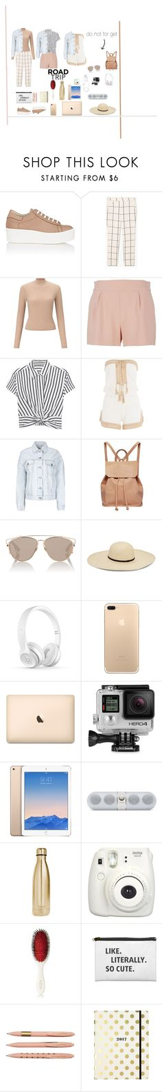 """""""DID SOMEONE SAY ROAD TRIP"""" by stylebellebelle ❤ liked on Polyvore featuring Barneys New York, MANGO, Miss Selfridge, Moschino, T By Alexander Wang, Anna Kosturova, Acne Studios, Urban Originals, Christian Dior and GoPro"""