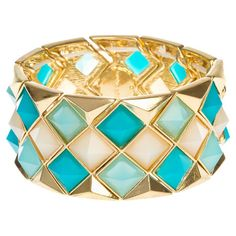 Stretch Turquoise Bracelet - would go great with many outfits.