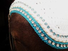 Crochet Horse Fly Bonnet Pattern Custom Horse Fly Bonnets