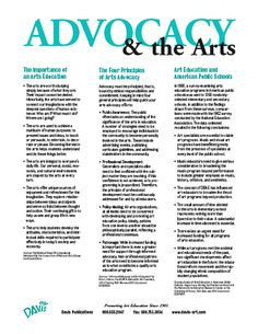 """""""The Importance of Arts Education/The Four Principles of Arts Advocacy, and Art Education and American Public Schools""""  (This is the first PDF on this page - there is no difference in the titles.  You need to open the PDF in order to see it.)"""